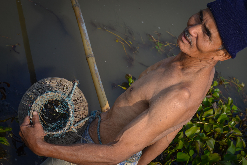 """I have been fishing in this festival every year for the last three decades, the fish number has gone down, said Sunder Bordoloi, a teacher in Naukhula village, Jagiroad."