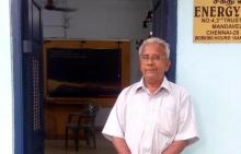 Dr Raghavan at the Rain Centre.