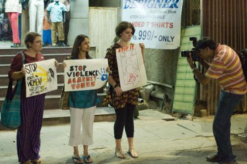 Demonstrating in favour of safe world for women in Bengaluru. Source: Kiran Jonnalagadda/Wikimedia Commons