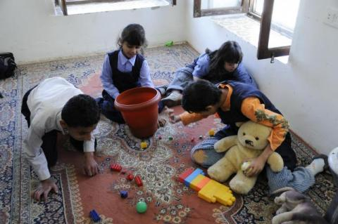 Children with special needs play at a school for autism in Yemen. Photo by Dana Smillie World Bank