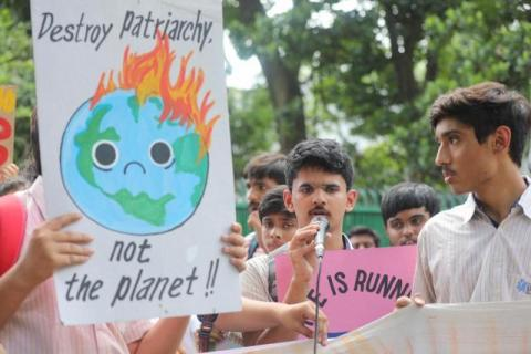 A climate strike in progress. Source: Extinction Rebellion India