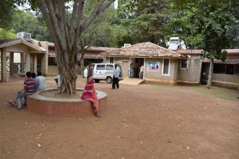 The in-patient ward and rooms for patients, all on the pattern of traditional hutments