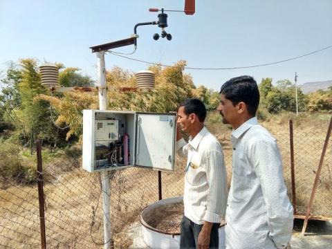 The weather station at Randullabad that helps farmers plan their crops. (Photo by Manu Moudgil)