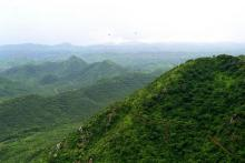 The lush Aravalli range of Rajasthan over a decade ago. Photo by Nataraja/Wikimedia Commons.