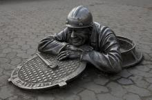 A memorial to sanitary technician man in Russia.  Wikicommons