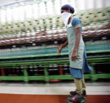 In one of the factories, workers have to work on roller skates without any protective gear